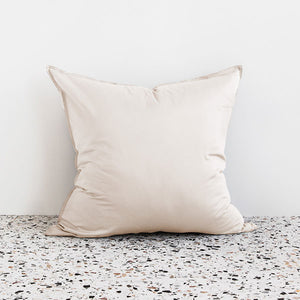 Extra Soft Washed Sateen European Pillowcase - Ivory