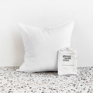 Extra Soft Washed Sateen European Pillowcase - White