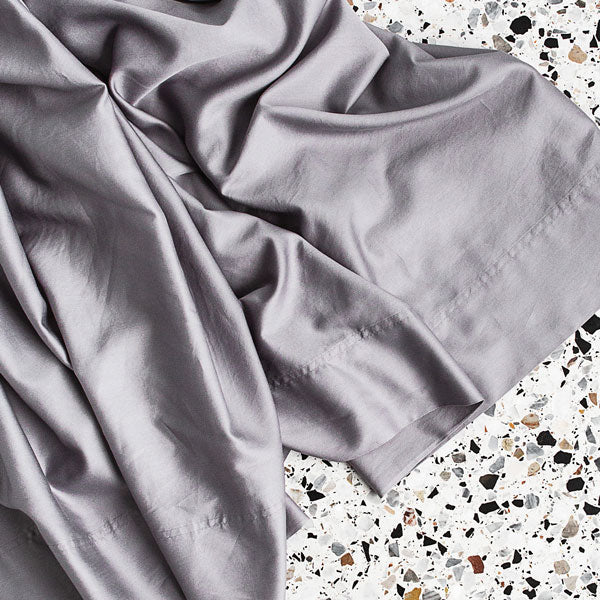 Extra Soft Washed Sateen Flat Sheet - Dove