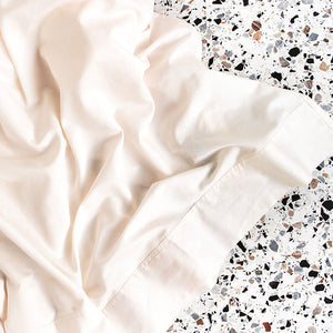 Extra Soft Washed Sateen Flat Sheet - Ivory