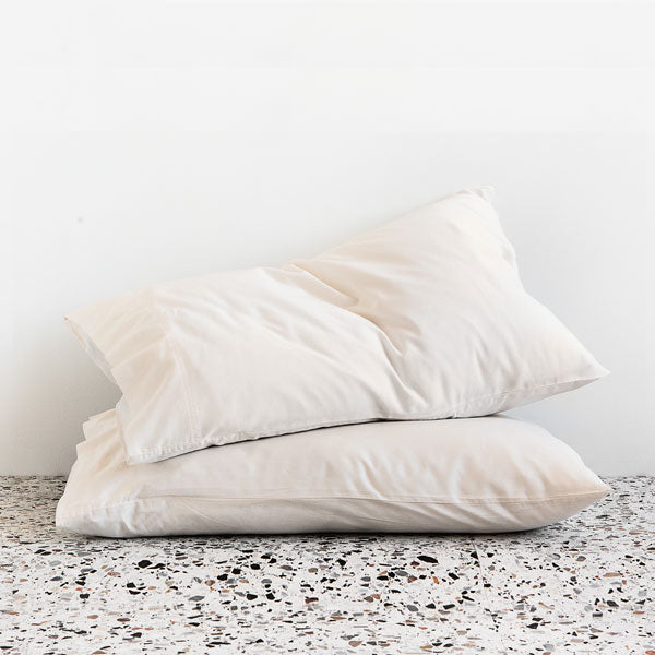 Extra Soft Washed Sateen Pillowcase pair - Ivory