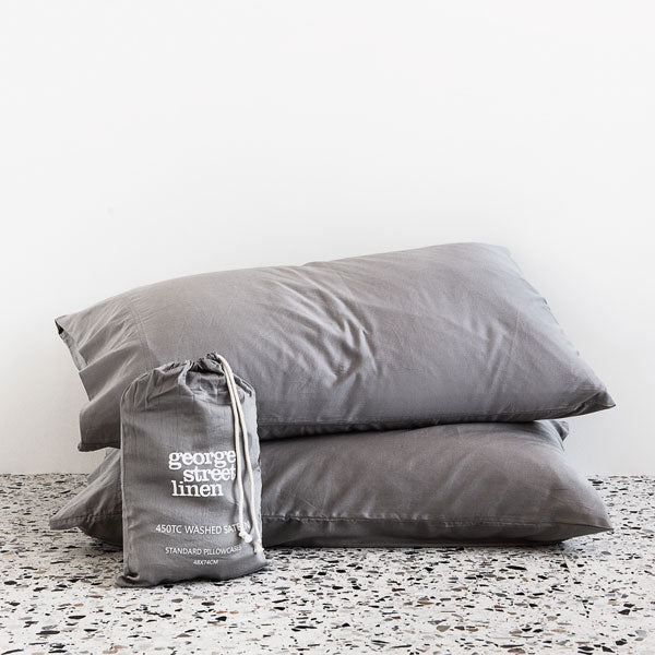 Extra Soft Washed Sateen Pillowcase Pair - Dove