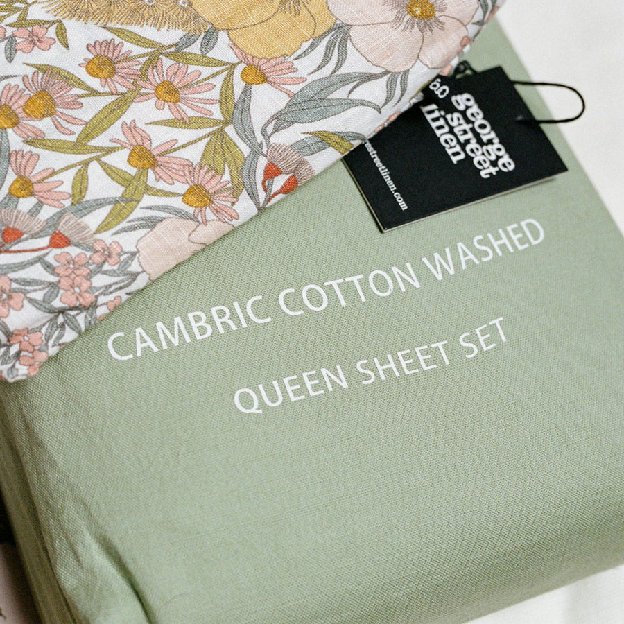 Cambric Cotton Duvet cover set - JADE