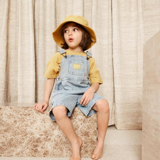 Burton Vintage Washed Denim Overalls