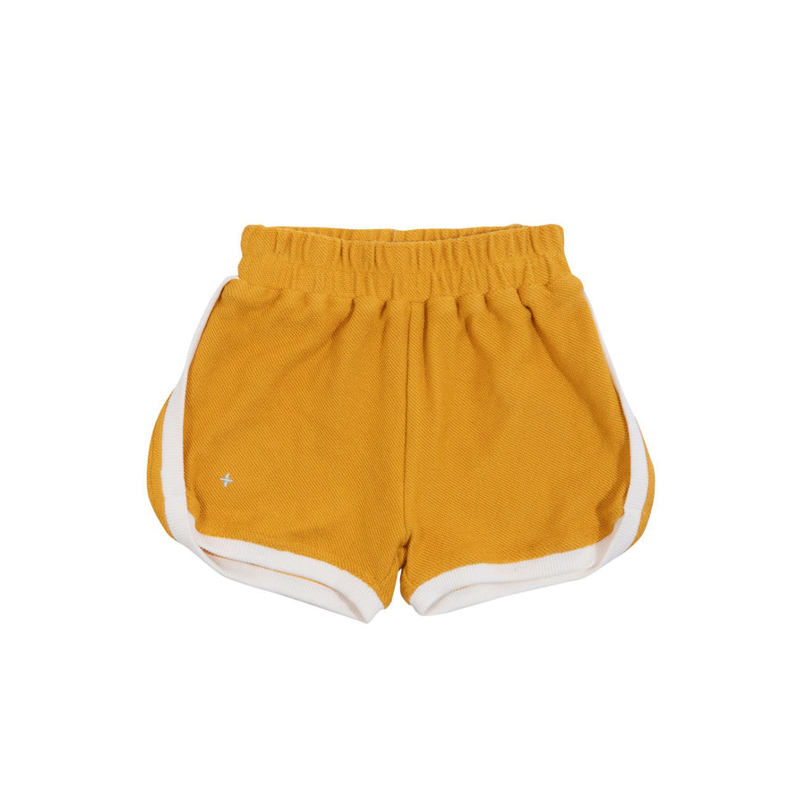 Goldie+Ace Sadie Terry Towelling Shorts Marigold