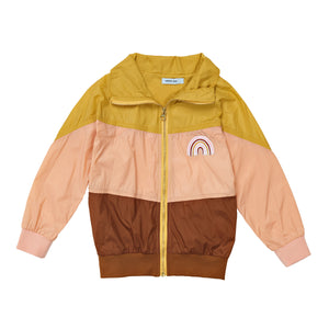 G+A Have A Nice Day Lightweight Jacket - Pink/Gold/Brick