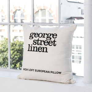 High Loft European Pillow - White