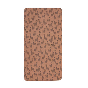 Goldie+Ace Llama Cotton Jersey Fitted Sheet Camel