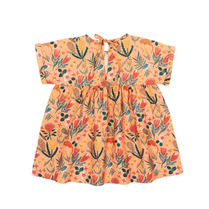 Goldie+Ace Lulu Linen Dress Native Garden Peach Print