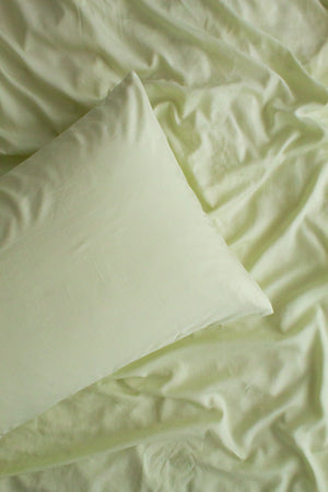 Bamboo Linen European Pillowcase-White Sage