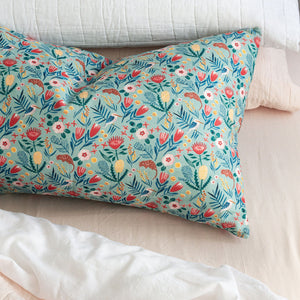 Linen Kookaburra Printed pillowcase