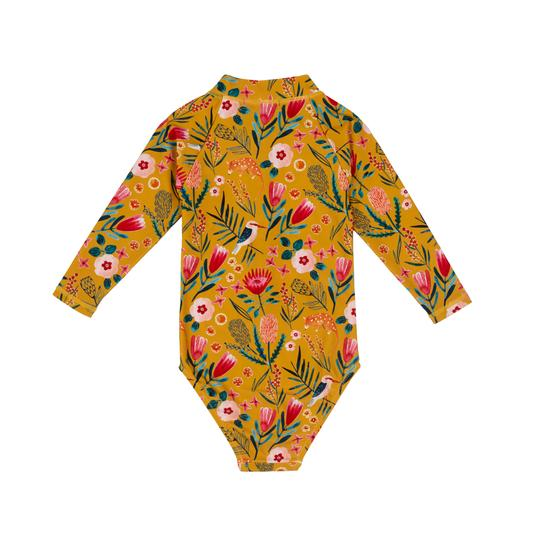 Native Garden Zip Up Sunsuit Honey