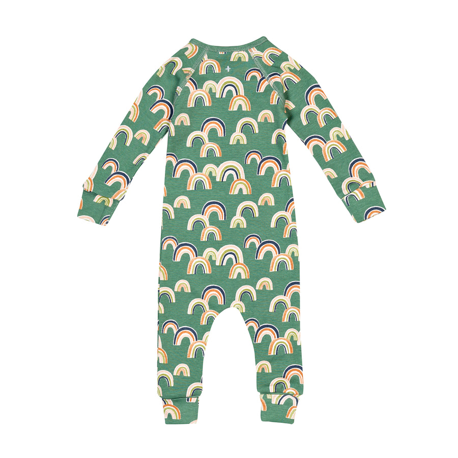 G+A Rainbow Print Zipsuit - Sea