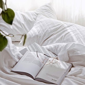 Extra Soft Washed Sateen Flat Sheet - White