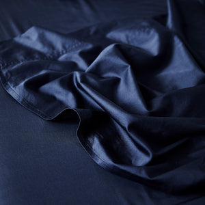 Extra Soft Washed Sateen Flat Sheet - Indigo
