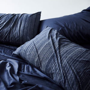 Cotton Jersey Pillowcase pair - Navy Heather