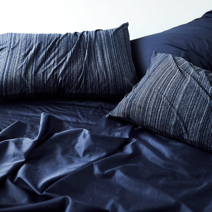 Extra Soft Washed Sateen Fitted Sheet - Indigo