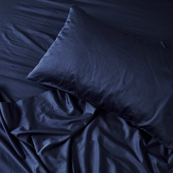 Extra Soft Washed Sateen Pillowcase pair - Indigo