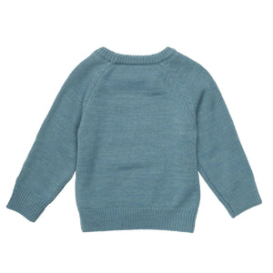 G+A Simon The Sloth Knit Sweater - Teal