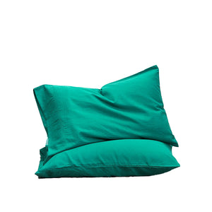Bamboo Linen Standard Pillowcase pair - Sea Blue