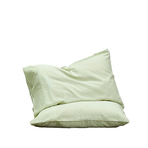 Bamboo Linen Standard Pillowcase pair - White Sage