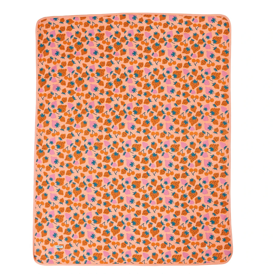G+A Strawberry Patch Baby Wrap - Peach