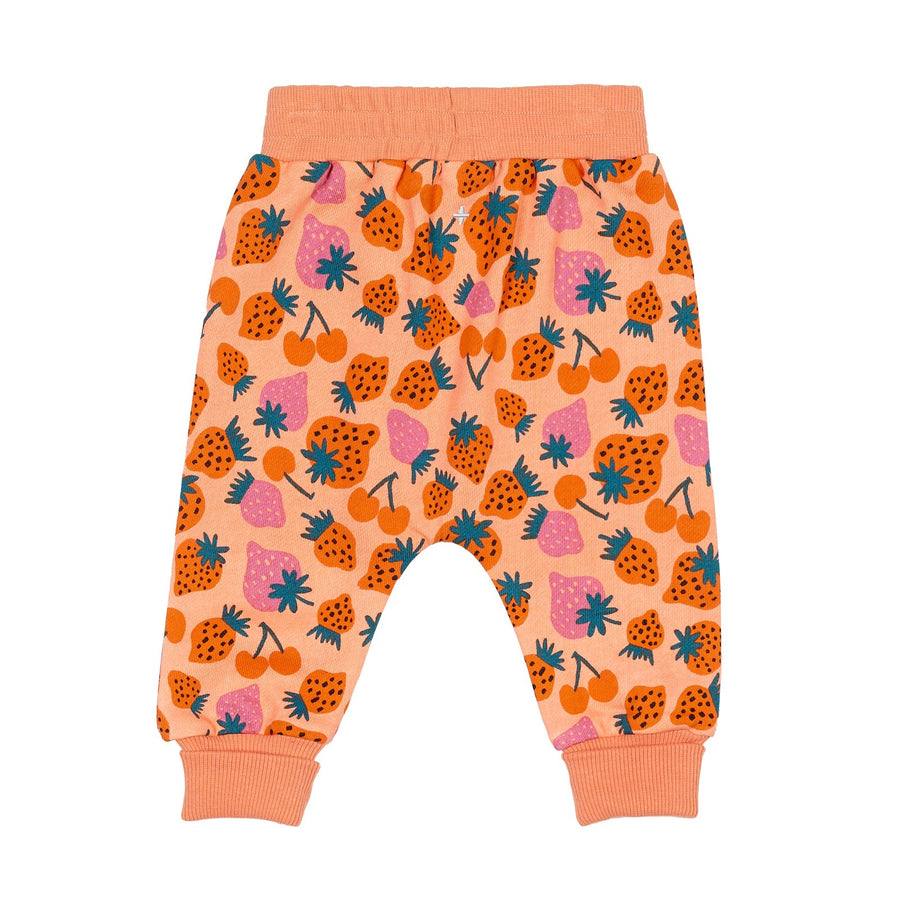 G+A Strawberry Patch Sweatpants - PEACH