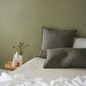 Bamboo Linen European pillowcase - DUSTY OLIVE