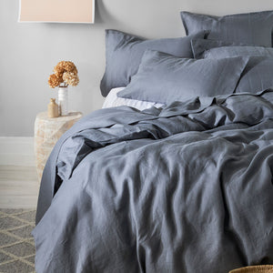 100% Linen Duvet cover set - CHARCOAL