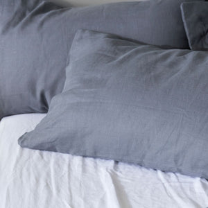 100% Linen Pillowcase - CHARCOAL