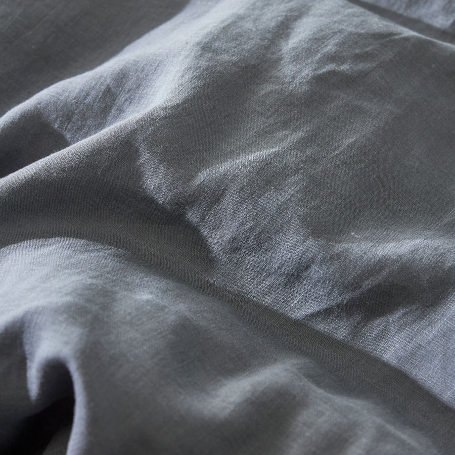 100% Linen Fitted sheet - CHARCOAL