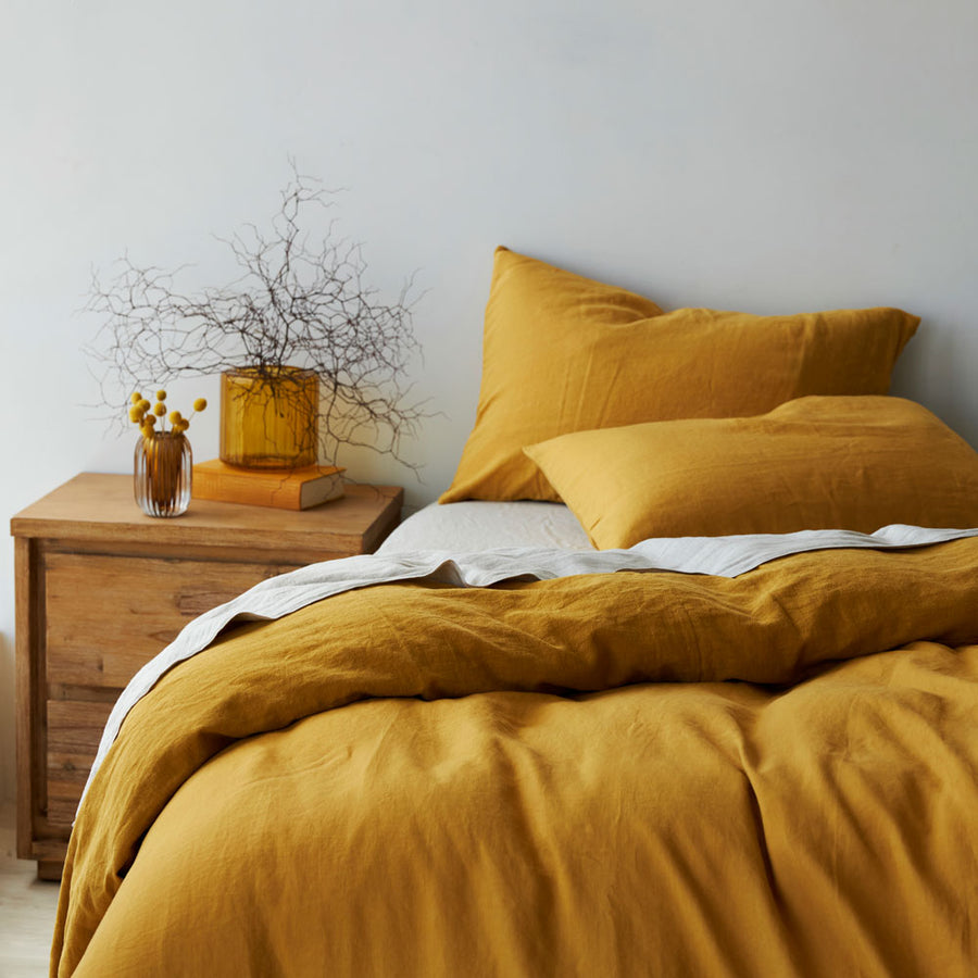 100% Linen Flat sheet - Honey