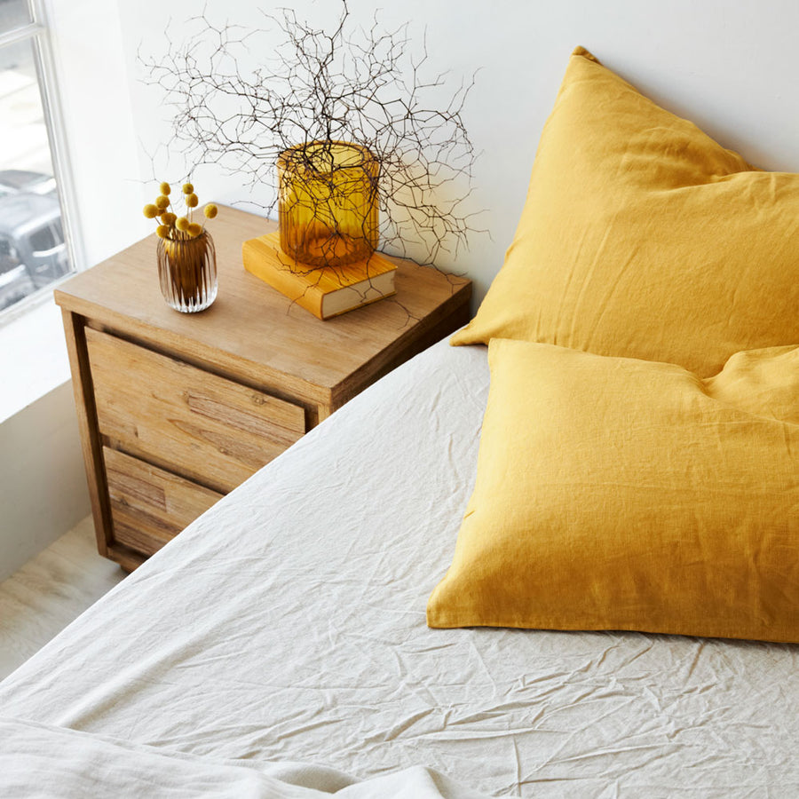 100% Linen Pillowcases - Honey