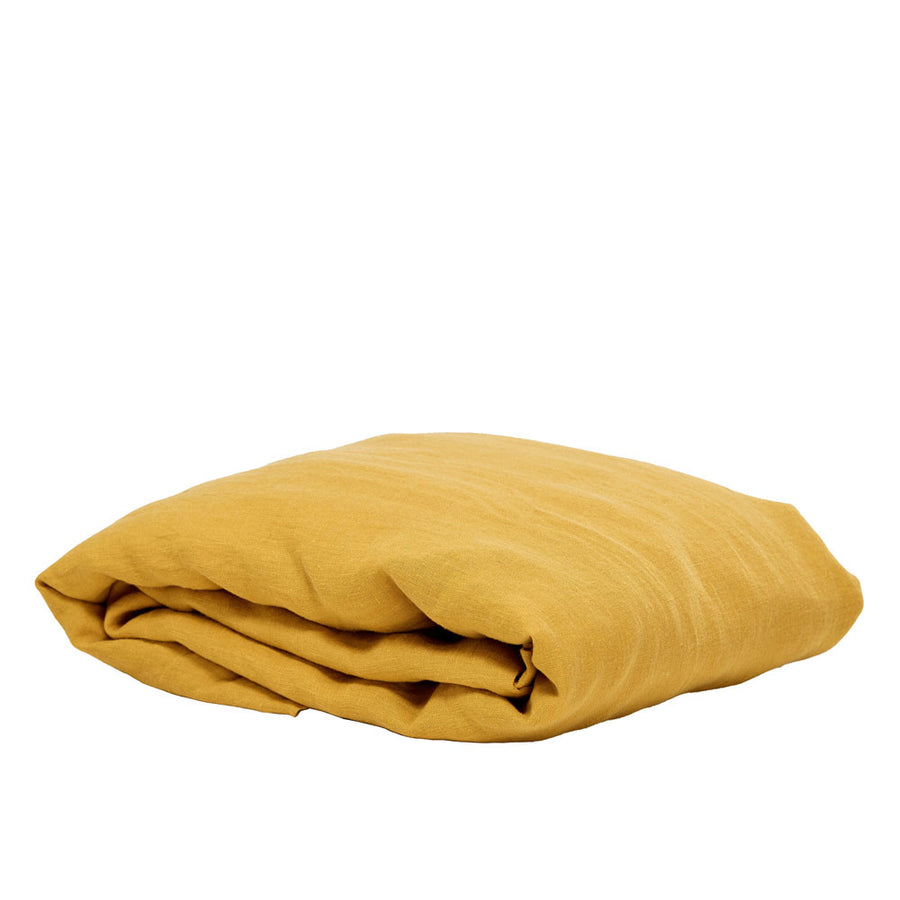 100% Linen Fitted sheet - Honey