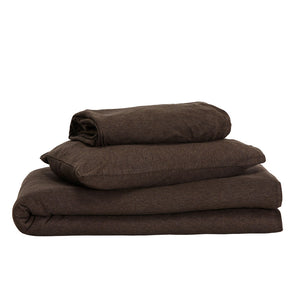 Kids Cotton Jersey Duvet Cover pack - Espresso