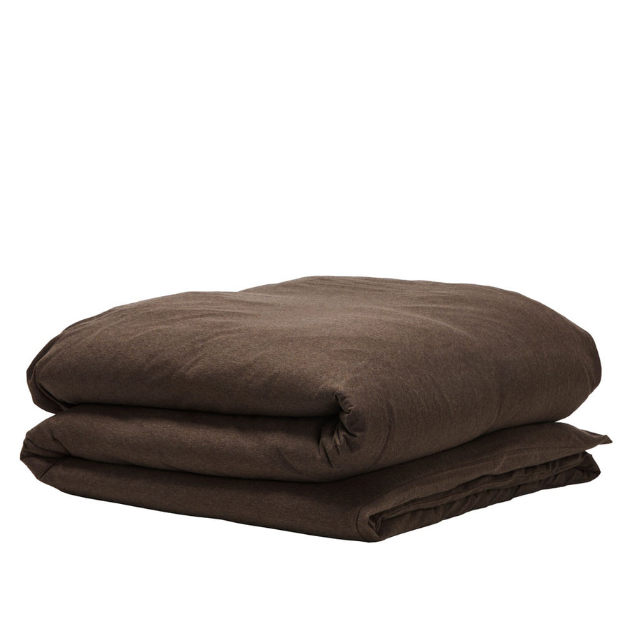 Cotton Jersey Duvet Cover - Espresso