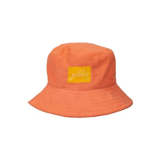 Goldie Terry Towelling Bucket Hat Flamingo