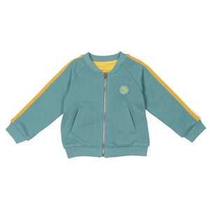G+A Track Team Reversible Bomber Jacket - Teal