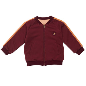 G+A Track Team Reversible Bomber Jacket - Sherry