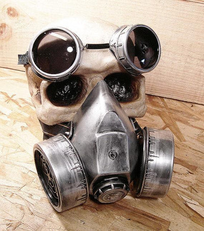 Steampunk Fan Costume Accessories Silver Steampunk Unisex Glasses Gas Mask Goggles