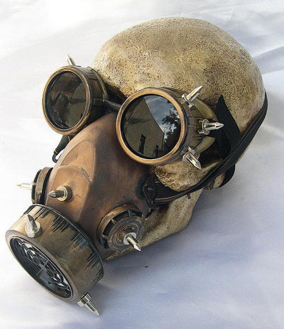 Steampunk Fan Costume Accessories Steampunk Unisex Glasses Gas Mask Goggles