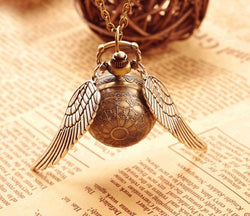 Steampunk Fan Jewelry Steampunk Harry Potter Quidditch Snitch Watch  Necklace