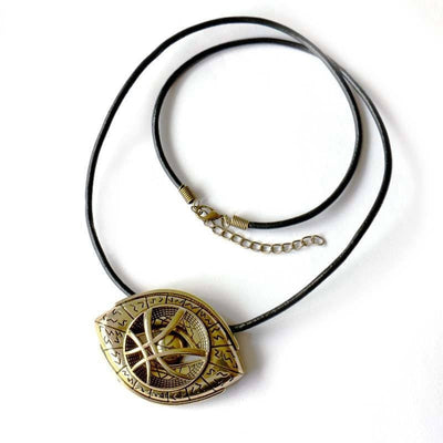 Steampunk Fan Pendant Necklaces Steampunk Doctor Who Antique Bronze Necklace for Men