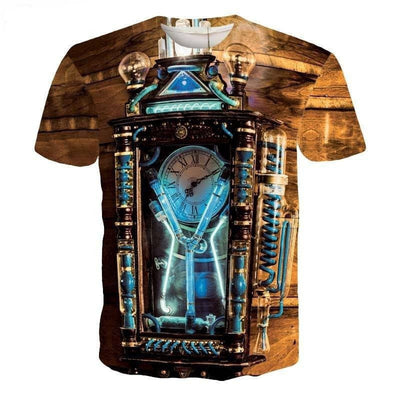 Steampunk Fan T-Shirts Asian M Steampunk Short Sleeve Men's T-Shirt
