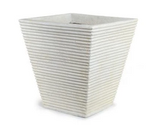 Square Ribbed Fiberglass Tree Planter 19""