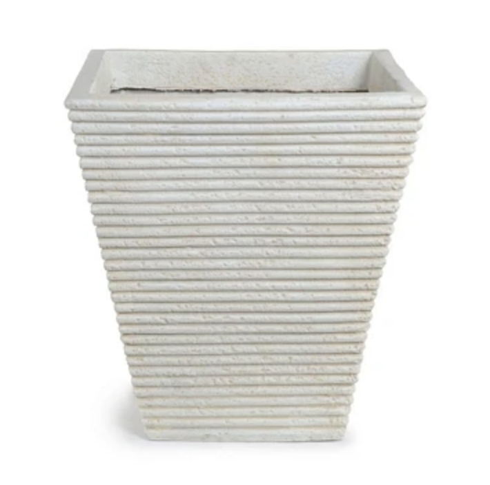 Square Ribbed Fiberglass Tree Planter 19