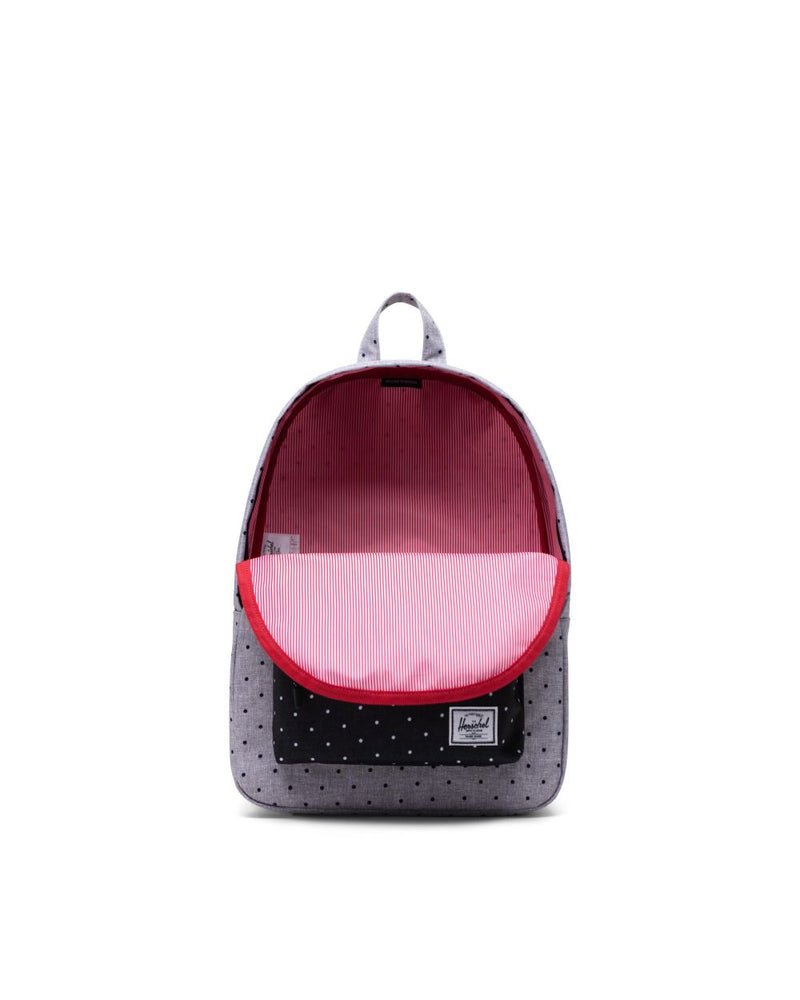 Classic Backpack Mid-Volume - Polka Dot Crosshatch Grey/Black
