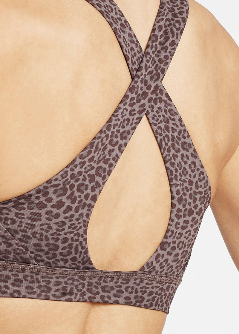 Ready For Action Bra II - Plum Cheetah