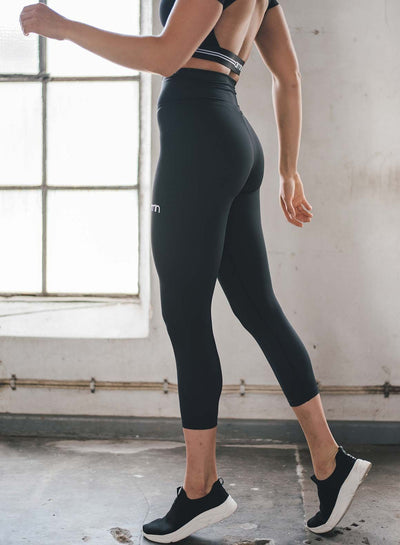Aim'n Aim High 7/8 Tights - Black | Shop AIM'N Sportswear at GOALS
