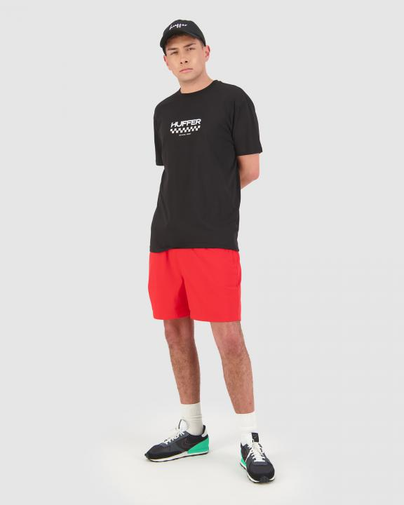 Huffer Mens Sup Tee/Checker - Black